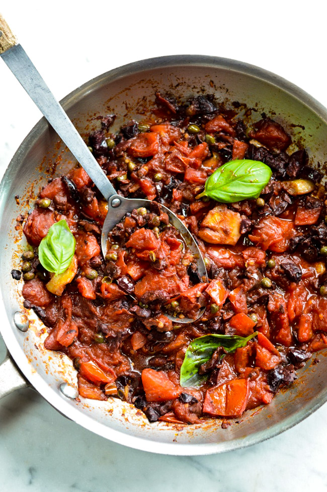 Fish Livornese pan