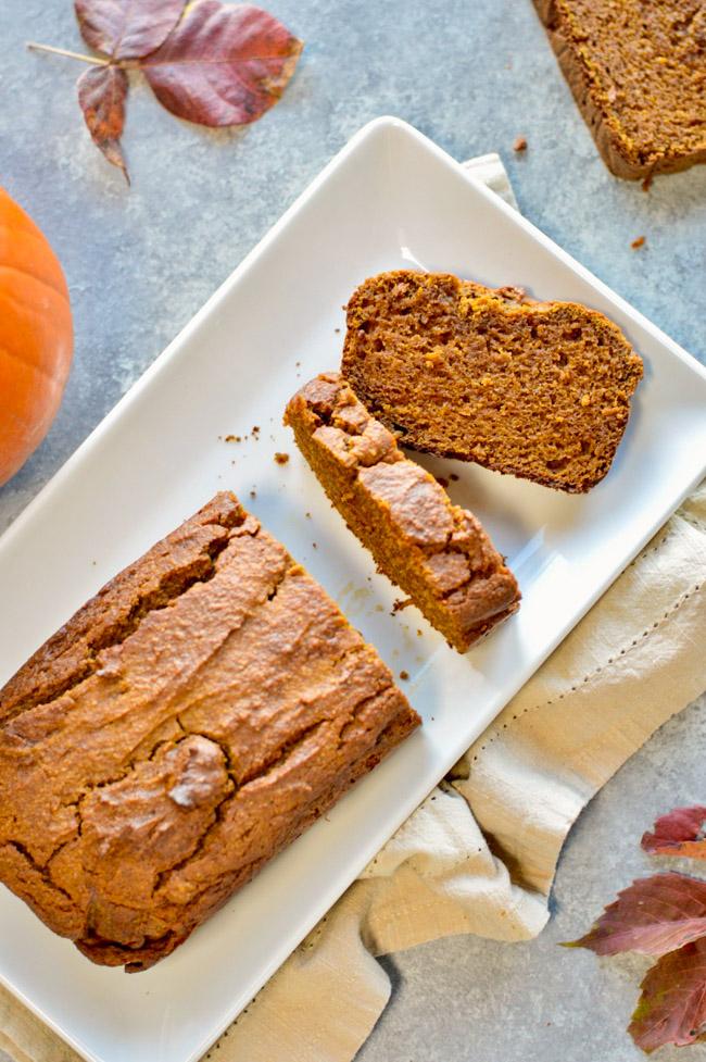 Paleo Pumpkin Bread Sliced