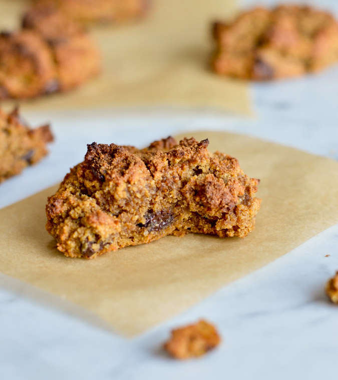 Paleo Chocolate Chip Cookies close up
