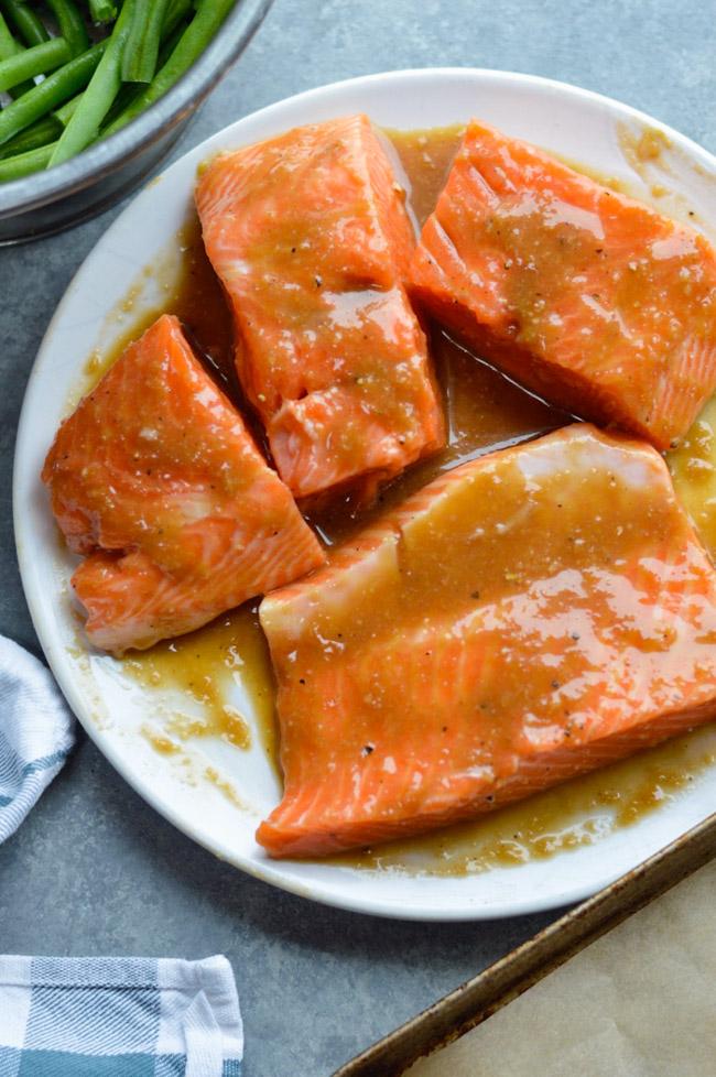 Miso Maple Salmon marinade