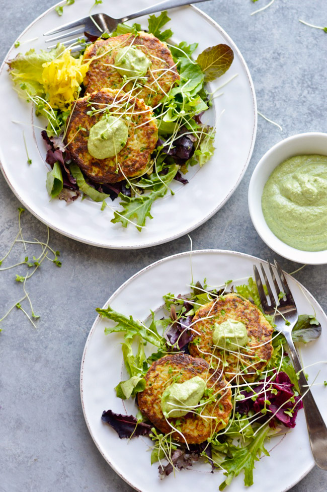 Vegetable Fritters Over
