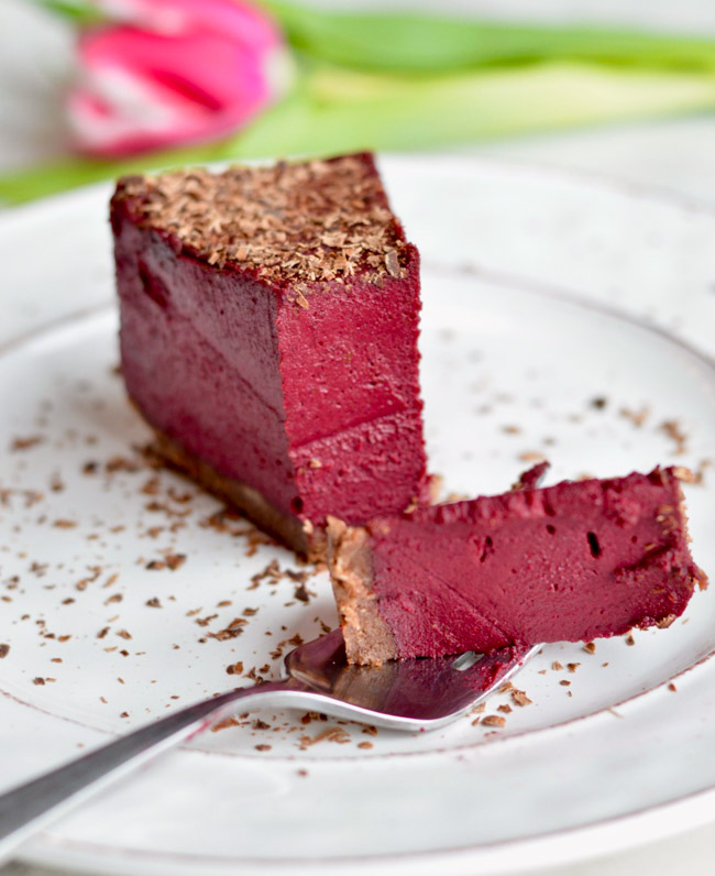 Paleo Red Velvet Cheesecake Cut