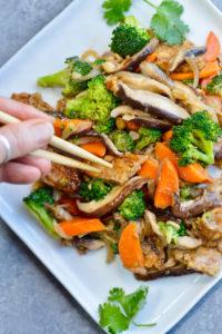 Asian Tempeh Broccoli Shiitake