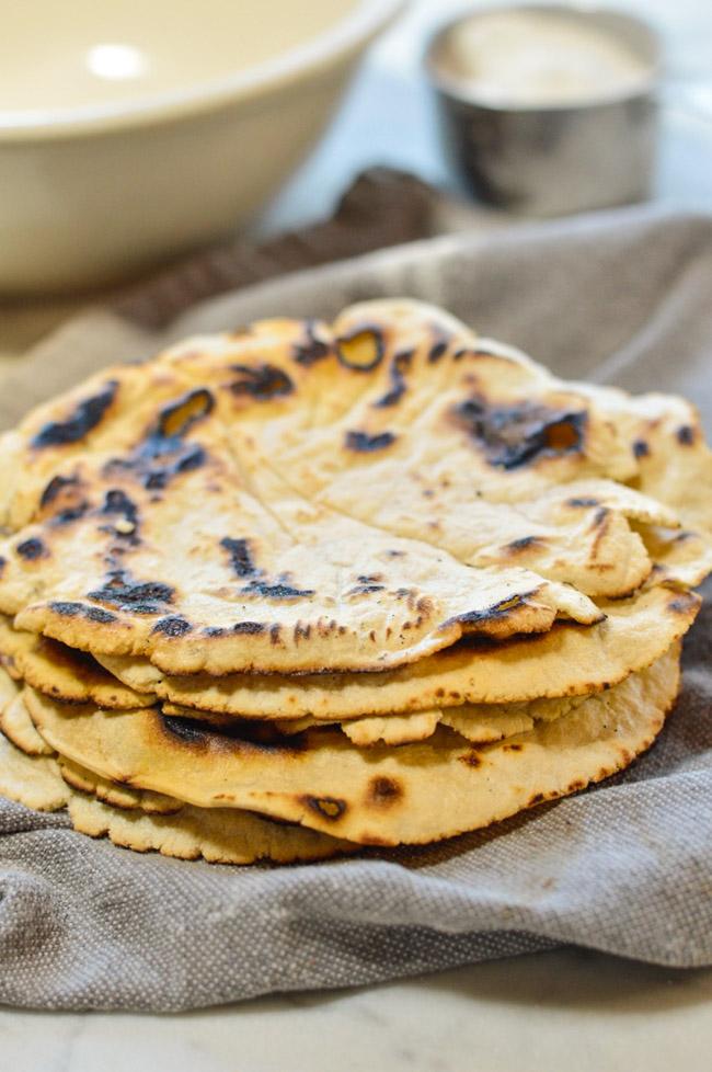 Paleo Cassava Tortillas stacked