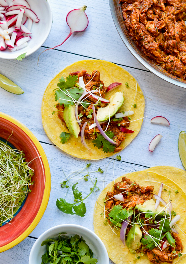 chicken tacos assembly