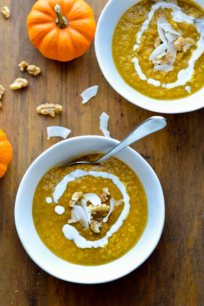 Pumpkin Coconut Porridge 2 bowls