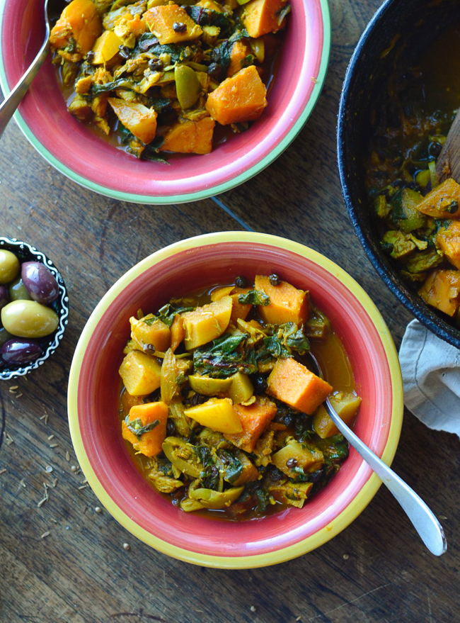 Moroccan Vegetable Tagine in bowls