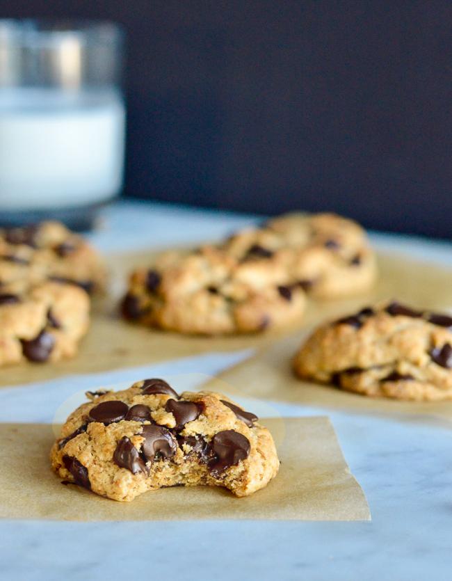 vegan chocolate chip cookies parchment