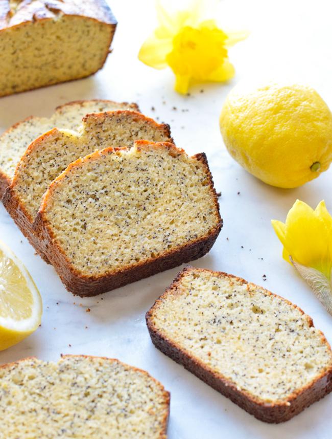 Lemon Poppy Seed Bread slices