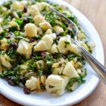 Sicilian Cauliflower Kale on plate