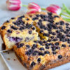 Paleo Lemon Blueberry Cake Slice