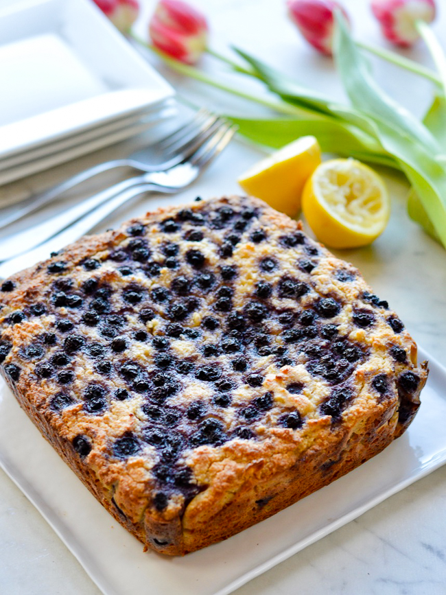 Lemon Blueberry Cake Whole