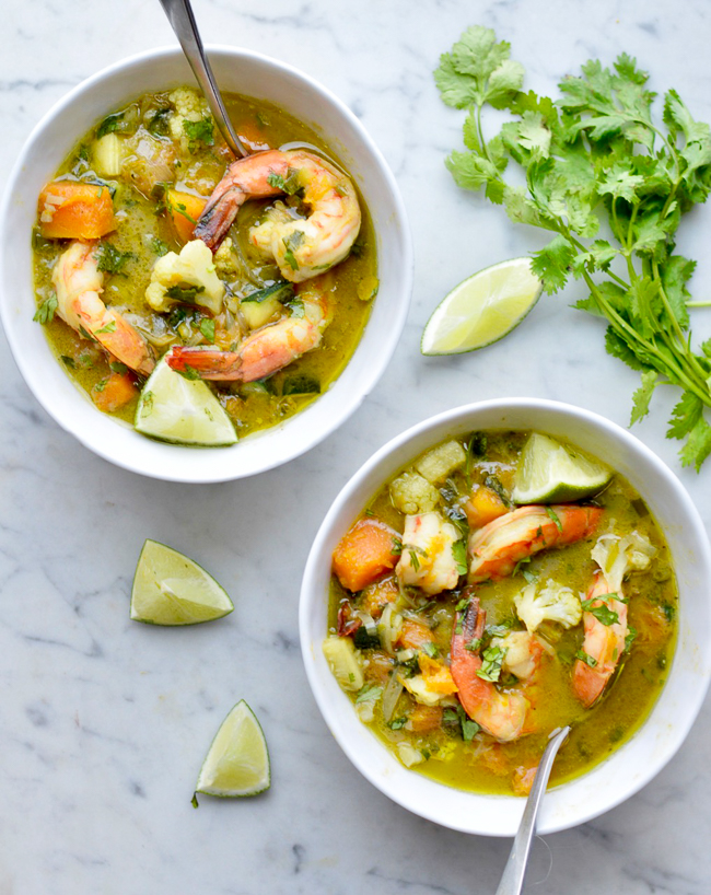 Thai Shrimp and Vegetable Curry 2 bowls