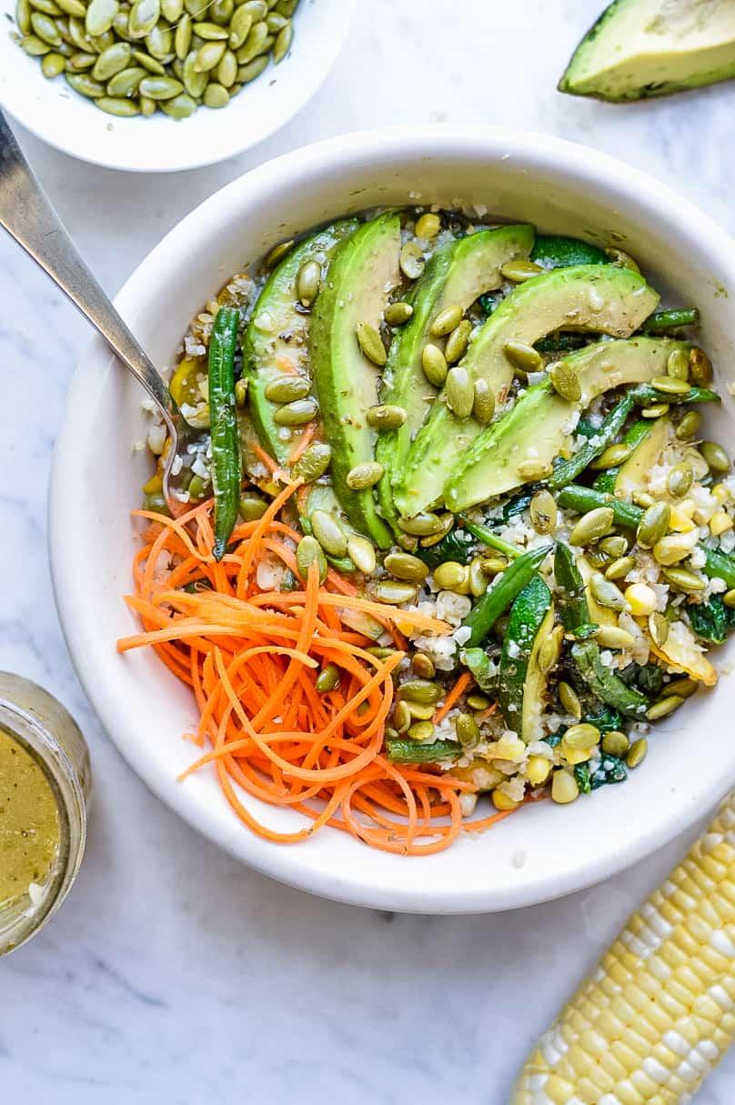 Cauliflower Buddha Bowl (Paleo, Vegan) group shot