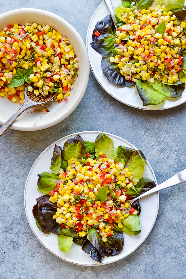 Fresh Corn Salad 2 plates
