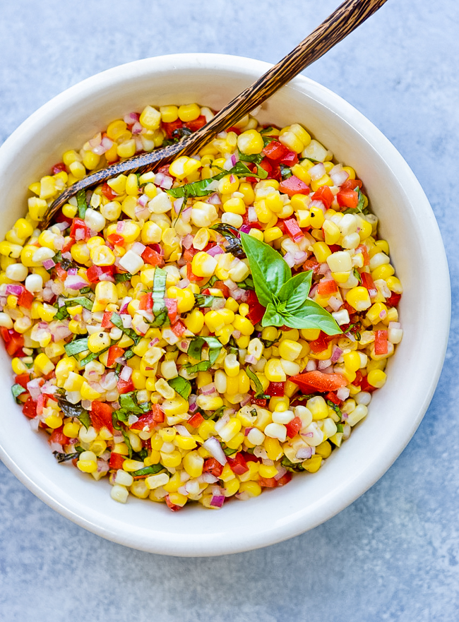 Fresh Corn Salad Bowl Alone