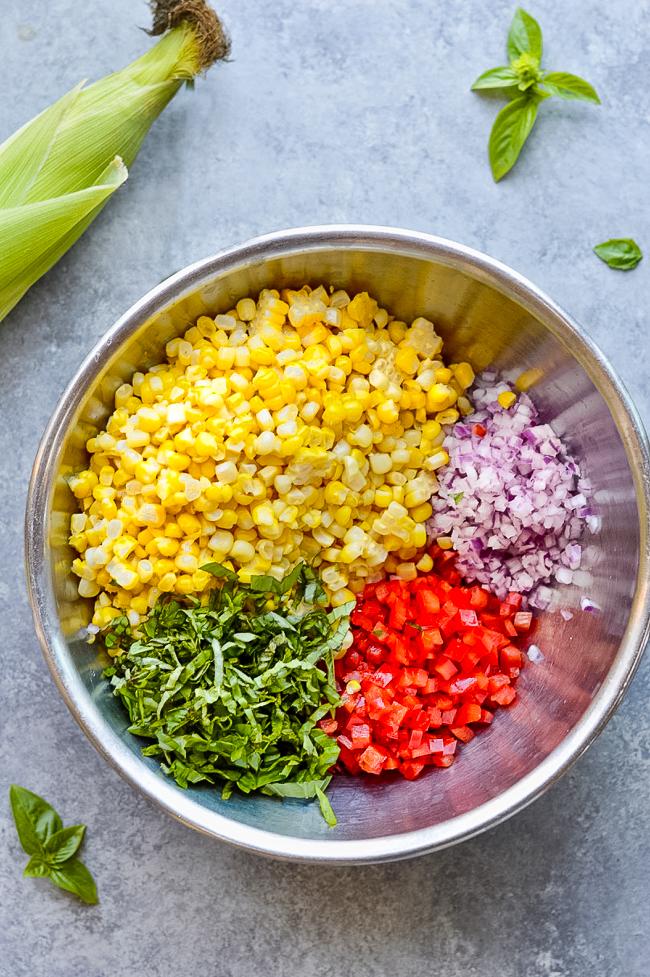 Fresh Corn Salad Chopped