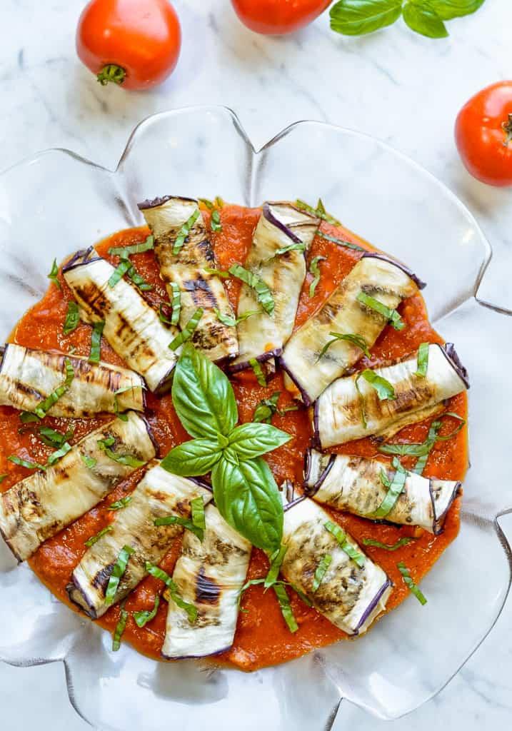 Eggplant Rollatini platter