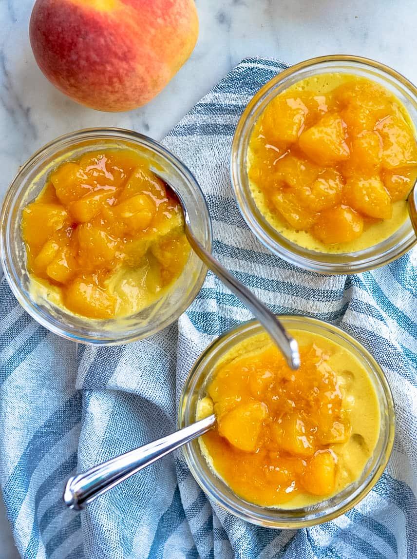 paleo peach mousse 3 bowls