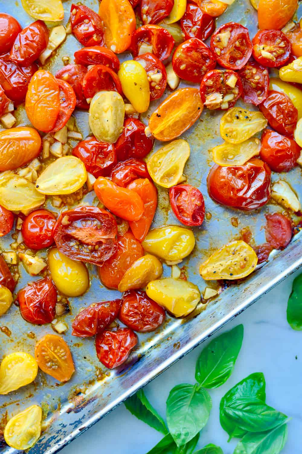 Roasted Cherry Tomatos in pan