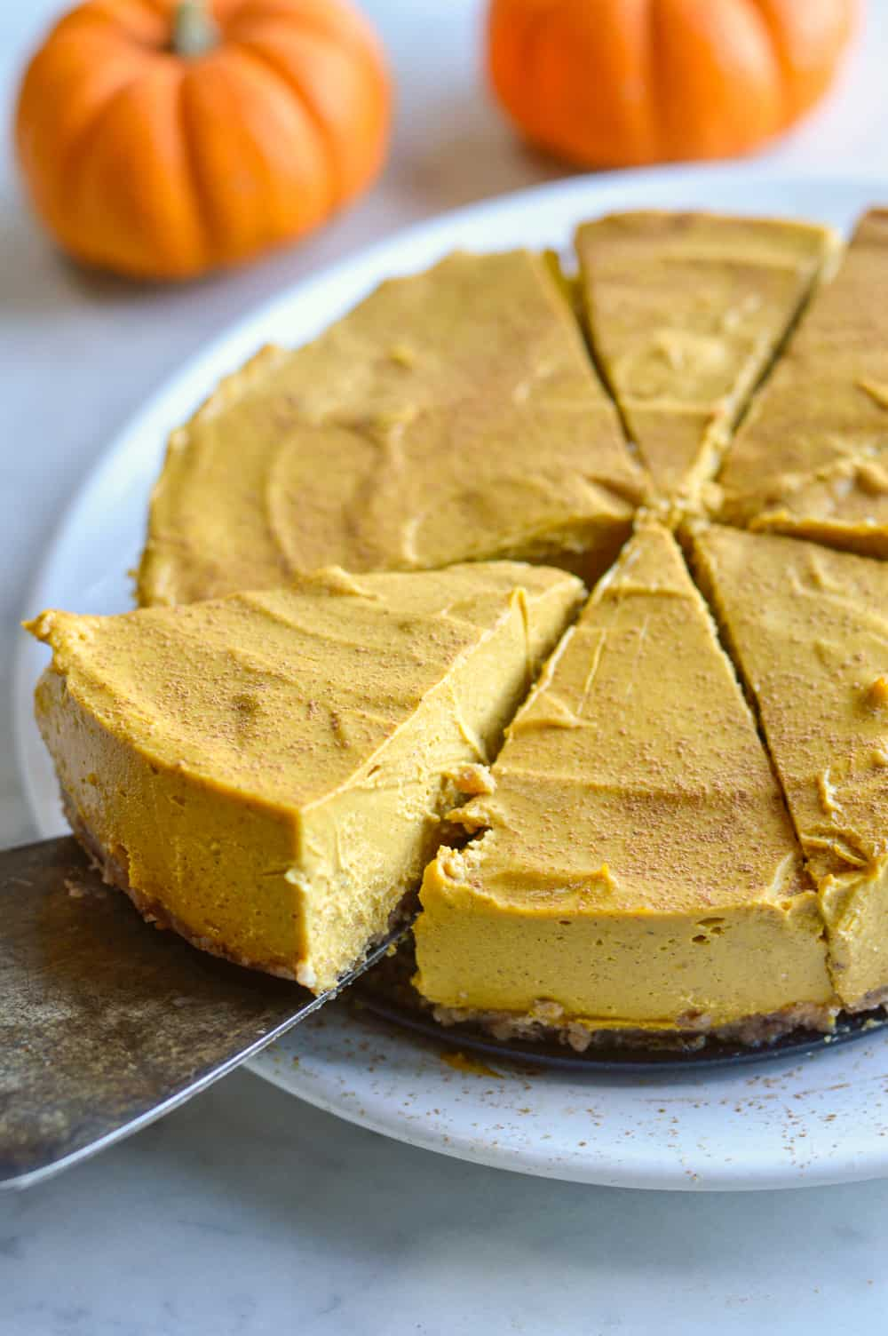 paleo pumpkin cheesecake slice from whole