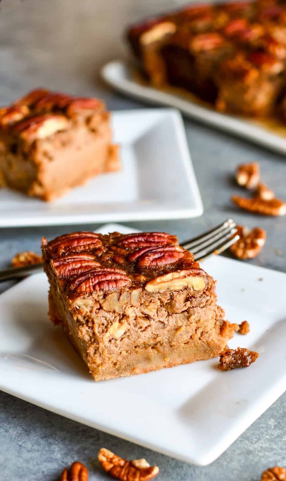The Best Paleo Pecan Pie Bars on plate