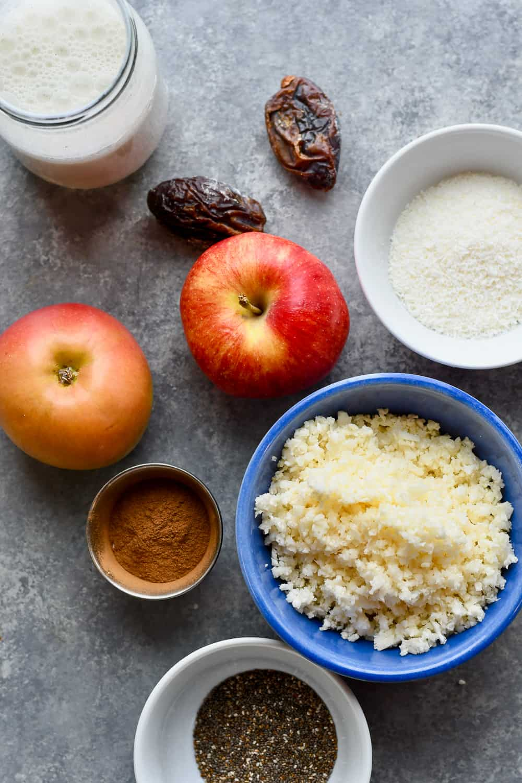 Apple Cinnamon Paleo Porridge (Vegan) ingredients