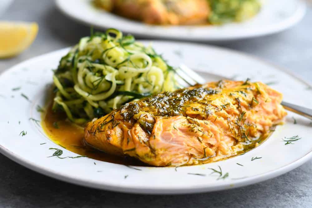 Roasted Dill Salmon side view