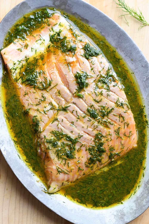 Roasted Dill Salmon raw