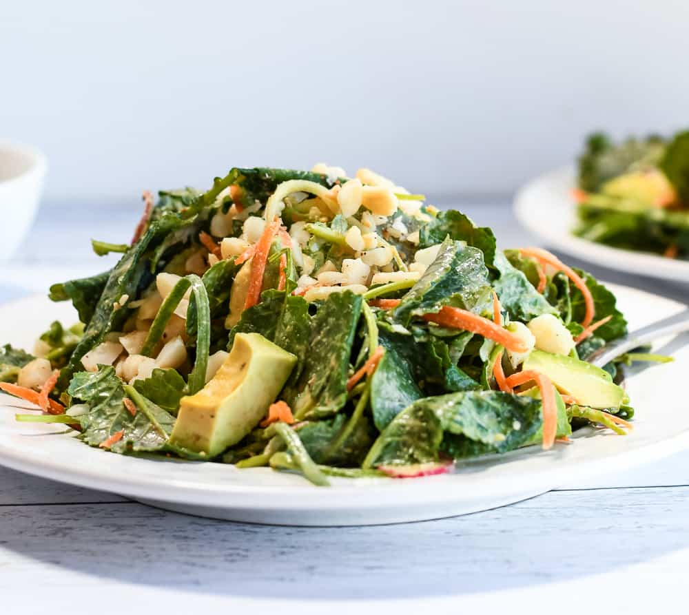 Baby Kale Salad close up