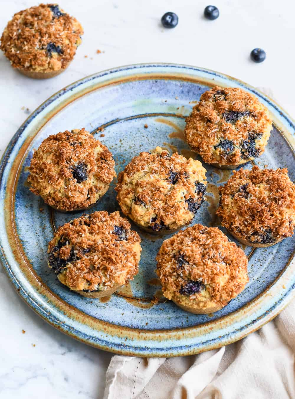 Paleo Blueberry Muffins on plate