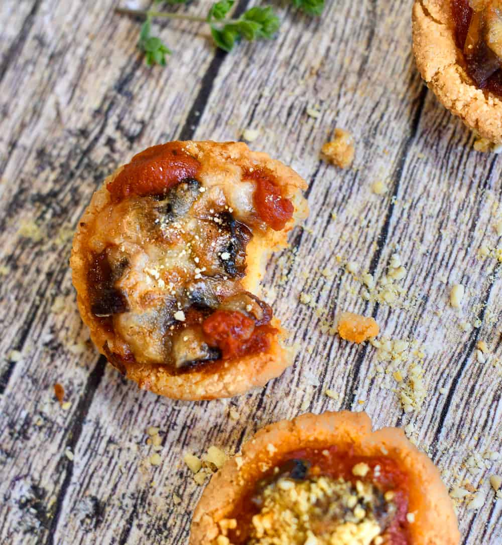 paleo mini pizzas close up