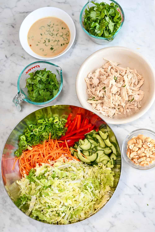 Vietnamese Chicken Salad chopped