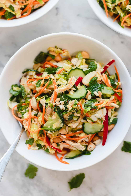 Vietnamese Chicken Salad in bowl alone
