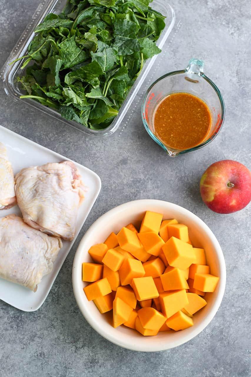 Glazed Sheet Pan Chicken ingredients